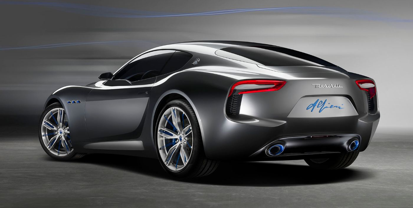 Grey Maserati Alfieri - Back side view