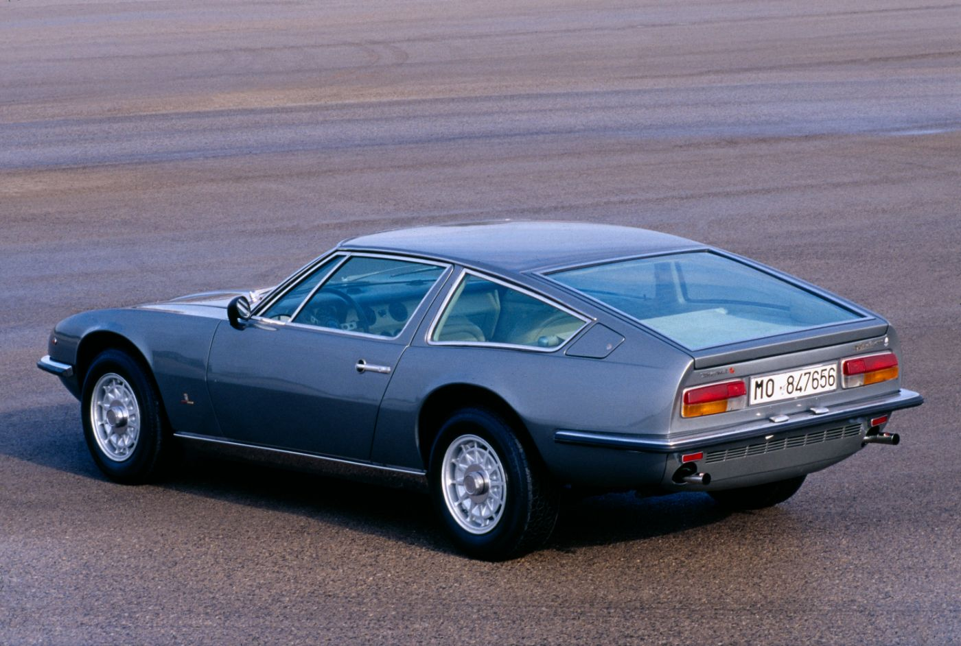 1969 Maserati Indy - exterior view of the classic 4-seater coupe