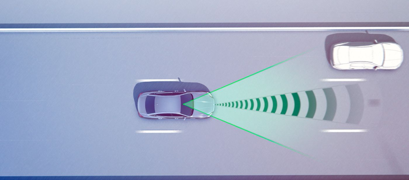 Forward Collision Warning Plus - Maserati forward-looking radar sensors